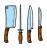 چاقوها و لوازم جانبی آشپزخانه